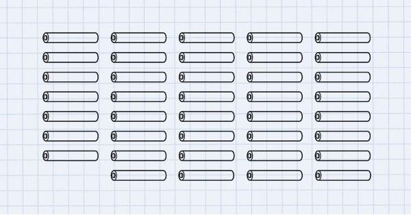 Grafische Darstellung von 40 Druckrohren