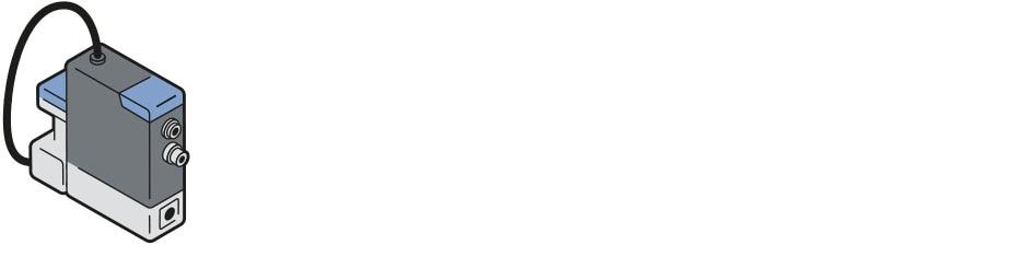 Grafische Darstellung des Massendurchflussreglers 8756 mit Mikrozahnringpumpe
