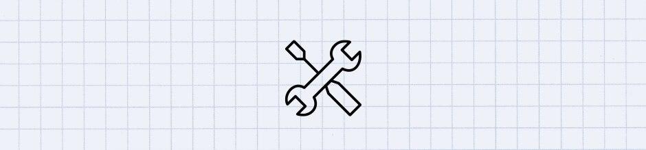 Symbol Schraubenschlüssel mit Schraubendreher