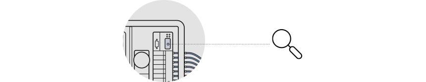 Grafische Darstellung eines Permeat-Monitoring-System, daraus ein Ausschnitt. Eine Lupe, lenkt den Blick auf eine Anzeige