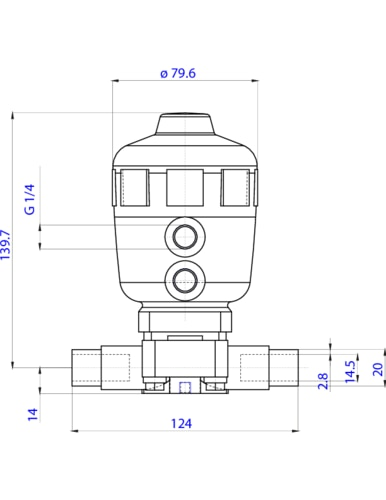141456 22 way piston operated diaphragm valve pneumatic the depiction of the products may differ from the actual specific design ccuart Image collections
