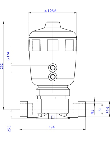 141477 22 way piston operated diaphragm valve pneumatic the depiction of the products may differ from the actual specific design ccuart Images