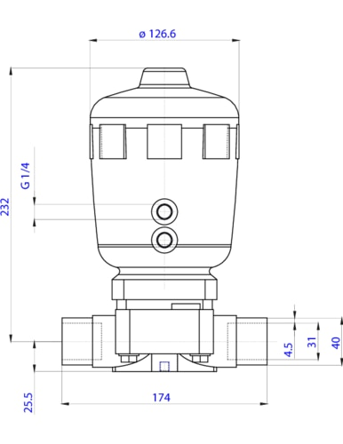 141479 22 way piston operated diaphragm valve pneumatic the depiction of the products may differ from the actual specific design ccuart Image collections