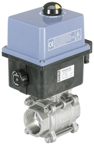 Type 8804 - 2/2 or 3/2 way ball valve with electric rotary actuator