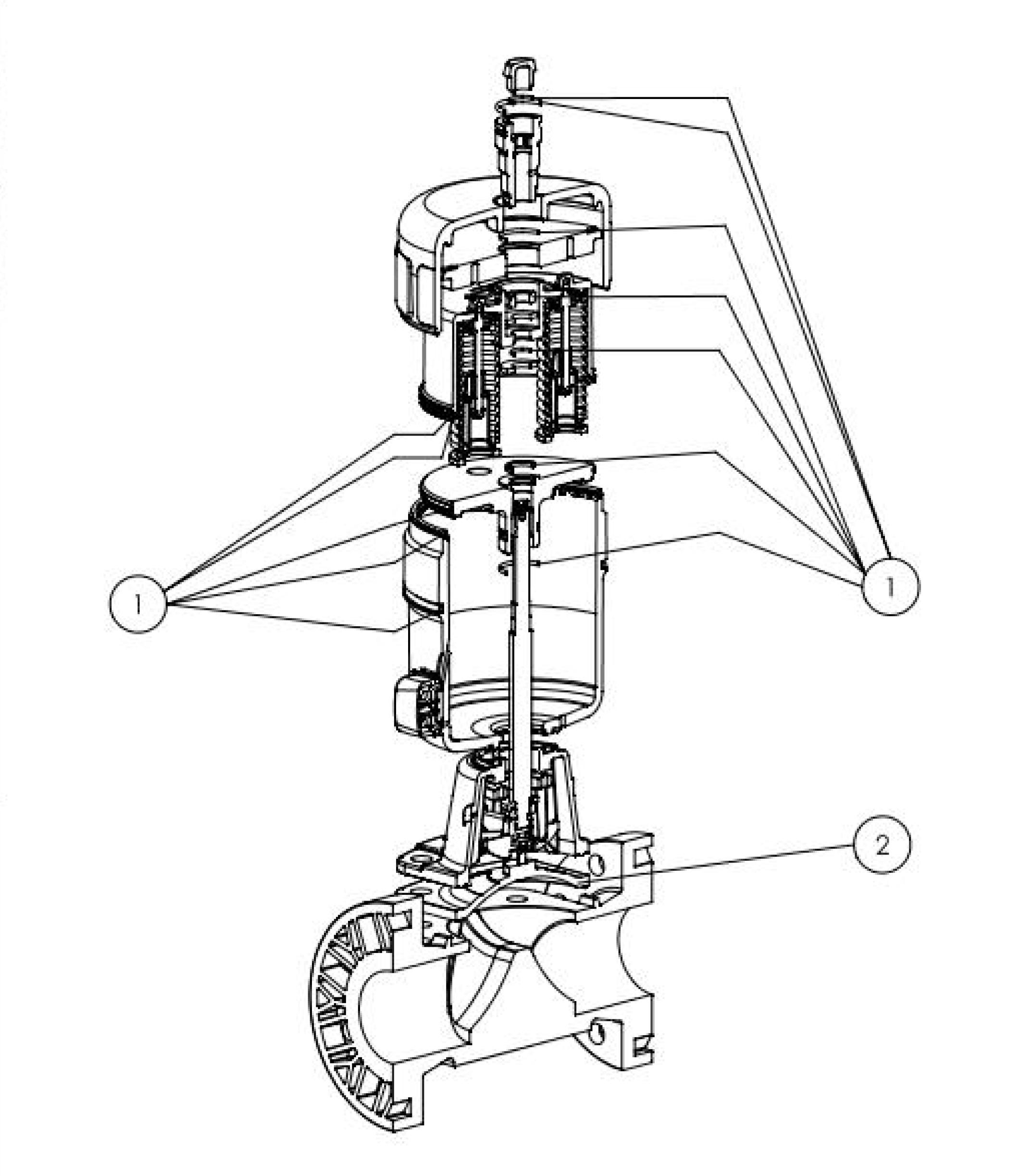 Type 2030 Pneumatically Operated 22 Way Diaphragm Valve Classic
