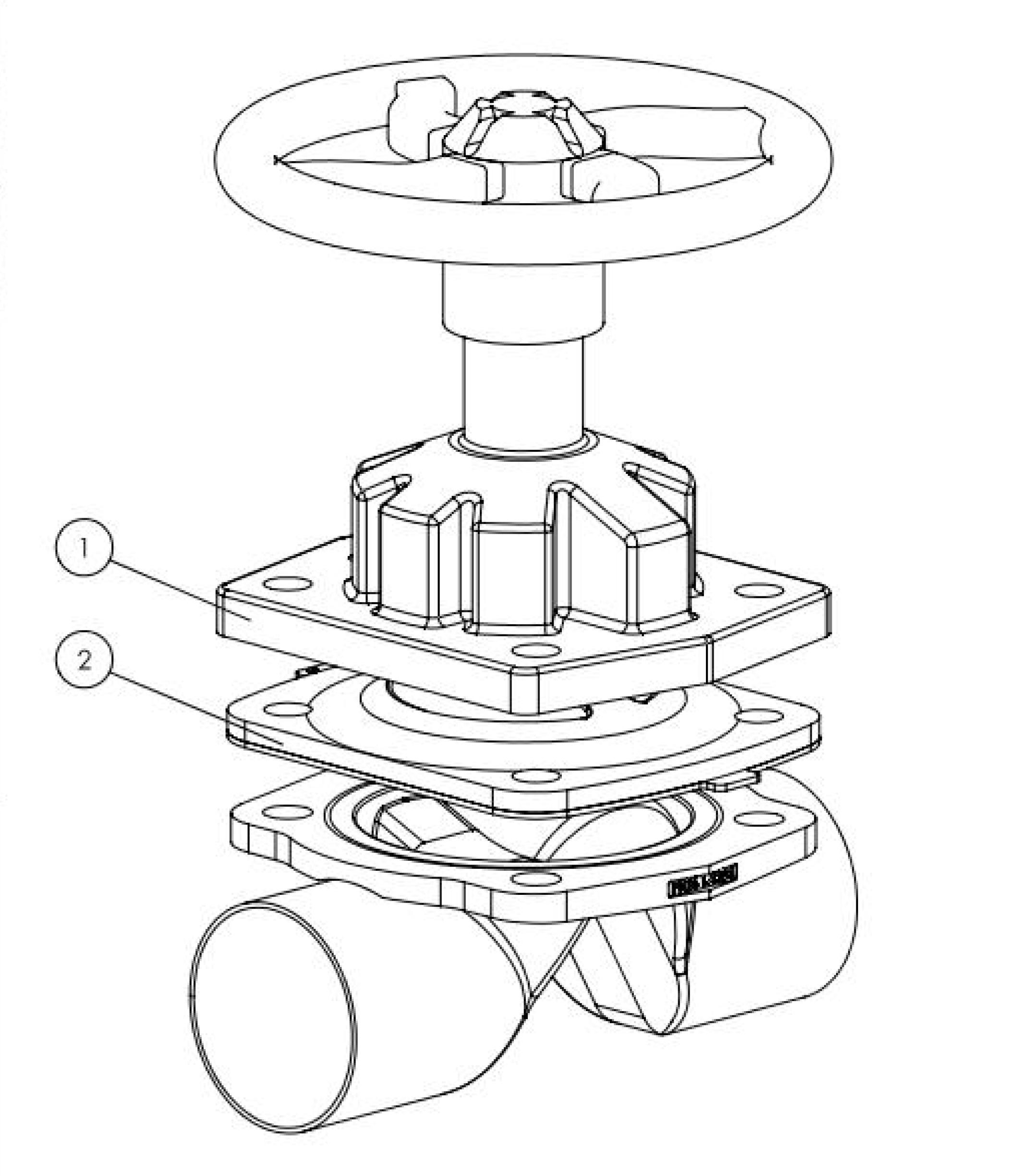 Type 3233 manually operated 2 way diaphragm valve with stainless the depiction of the products may differ from the actual specific design ccuart Image collections