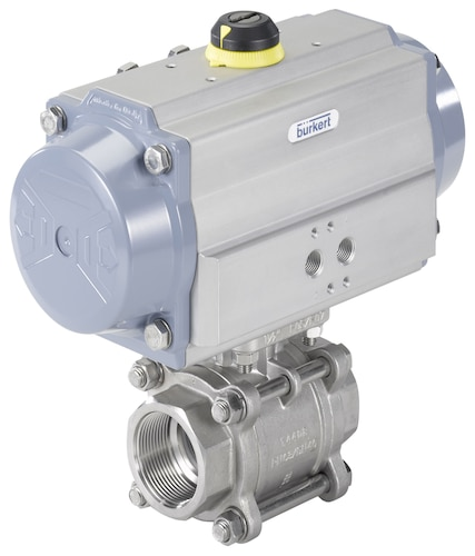 Type ball valve butterfly with pneumatic